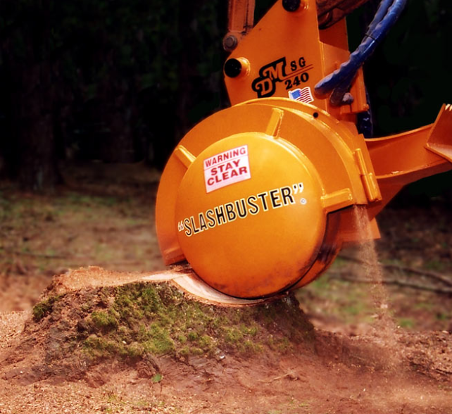 this is a picture of stump grinding by fullerton pro tree services