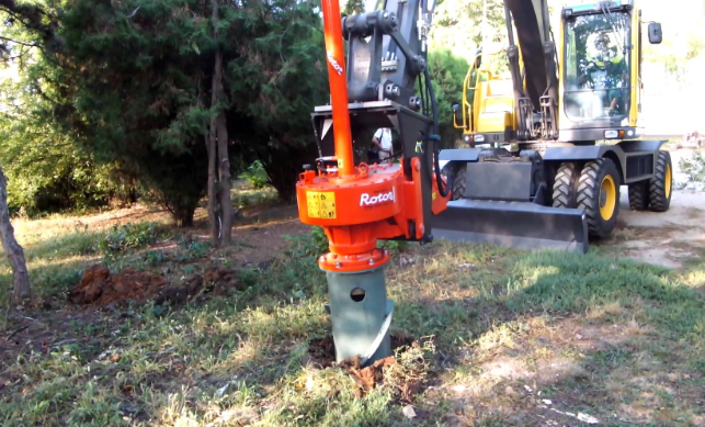 A picture of stump removal in Fullerton, CA.